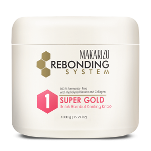 Rebonding System Straightening Cream Super Gold Pot 1000 gr